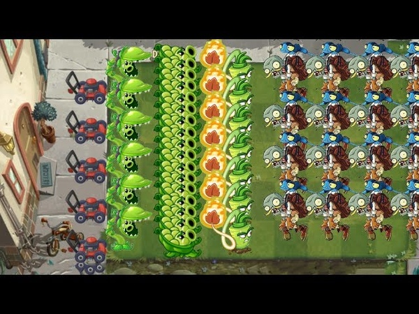 Plants vs Zombies 2 Snap Pea and Sling Pea 999 Zombies