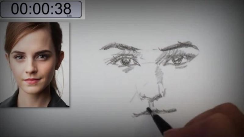 Hanya belajar 2 menit kamu pasti bisa menggambar sketsa wajah