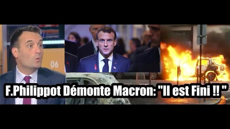 F. Philippot Démonte Macron et Prévoit la fin de son règne Il est Fini