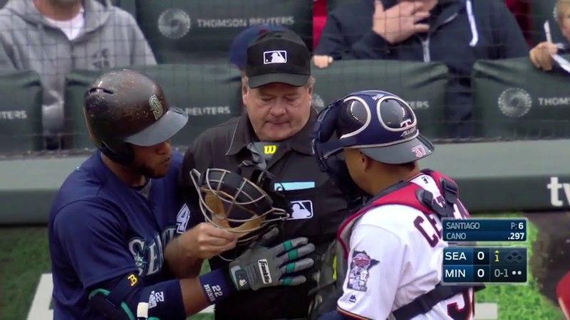 MLB Playback Batter Catcher Umpire get hit compilation