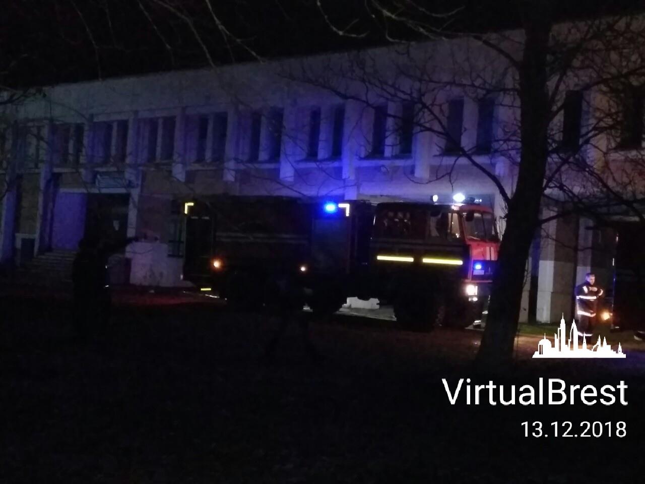 В Брестском районе произошел пожар в подвале Дома культуры д. Черни