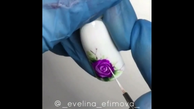Акварельный цветок гель-лаками. Видео МК 2