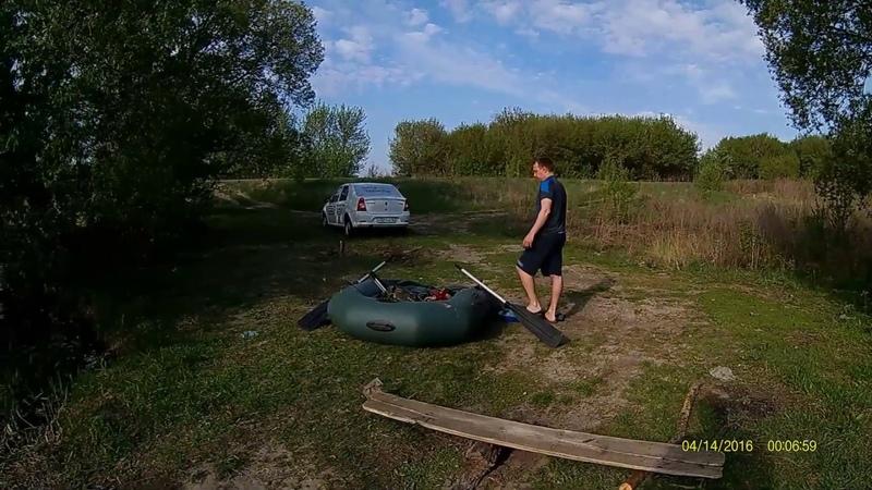 Покатушки на лодке щуки атакуют с Крутое Щигровский р н Курской области