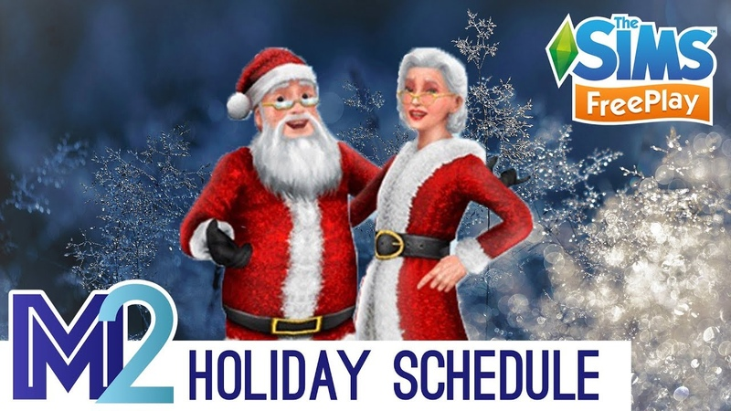 Sims FreePlay 2018 Holiday Update Schedule