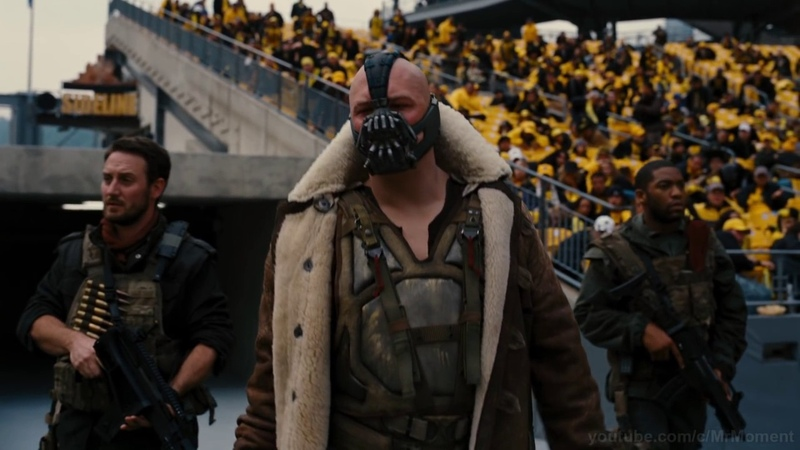Бэйн взрывает туннели Речь Бэйна на стадионе Темный рыцарь Возрождение легенды
