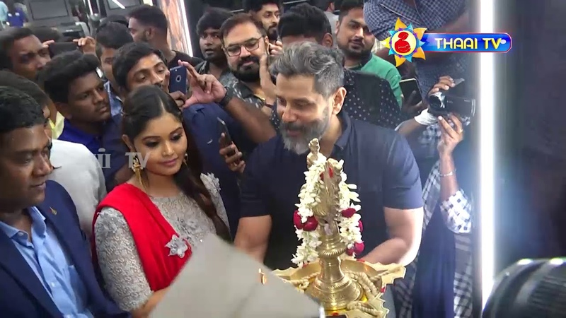 Chiyaan Vikram Mass Entry 10 Fitness laboratory Gym Launch