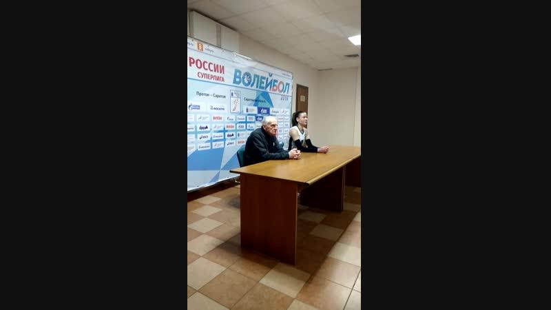 Анатолий Макагонов, главный тренер Динамо-Метар - о победе своей команды в Саратове.