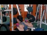 Тренировка прошла на позитиве)вес девочки 57 кгх17раз,вес на присяде 55 кгх15 раз