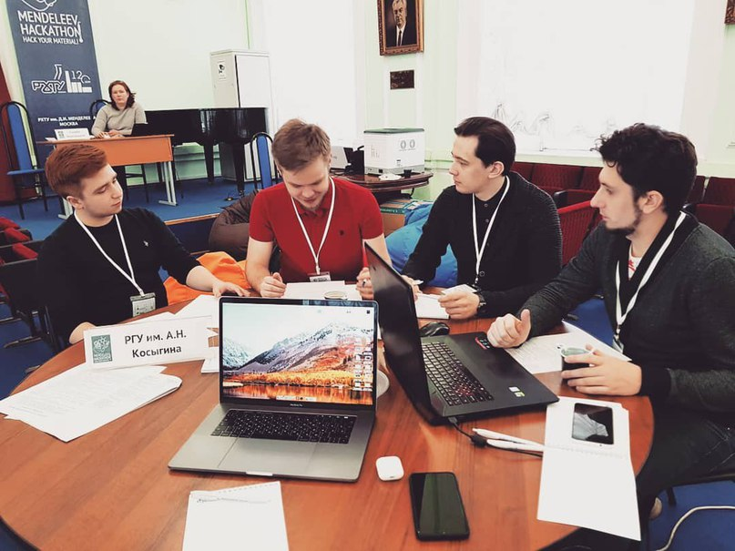 Workflow at Mendeleev Hackathon - 2nd place, case from the Russian Technical University named after  DI.  Mendeleev