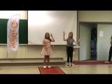 Talent show, Nastya and Masha gesture singing