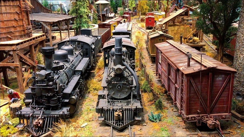 Stunning Large - Scale Model Railroad layout 4K UHD Suncoast center for Fine Scale Modeling