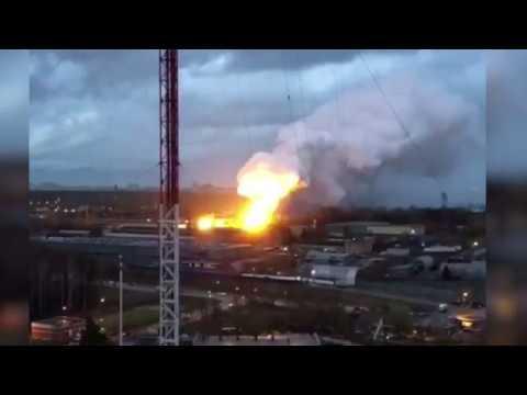 Пожар Балашиха Возгорание произошло на территории ОАО Балашихинский литейно механический завод