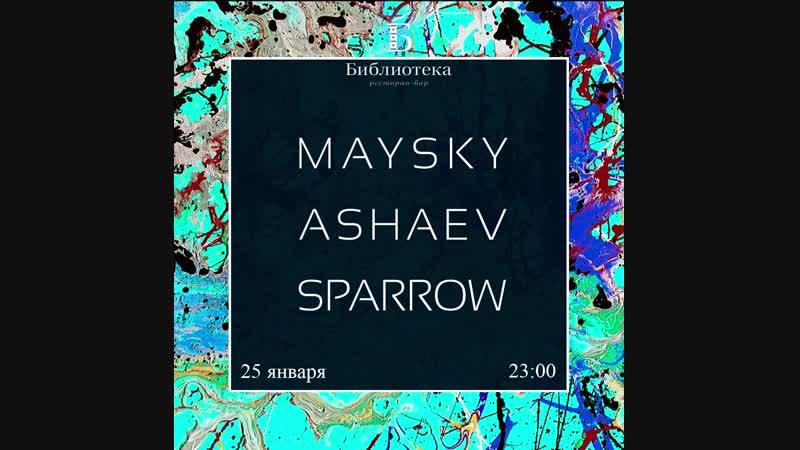 25 01 19 Pavel Maysky Dima Ashaev Sasha Sparrow Biblioteka