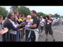 FREEVIEW Watch as @dcfcofficial manager and former England midfielder Frank Lampard greets fans outside One Call Stadium prior t