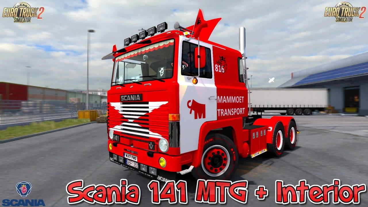 SCANIA 141 MTG + INTERIOR V1.0