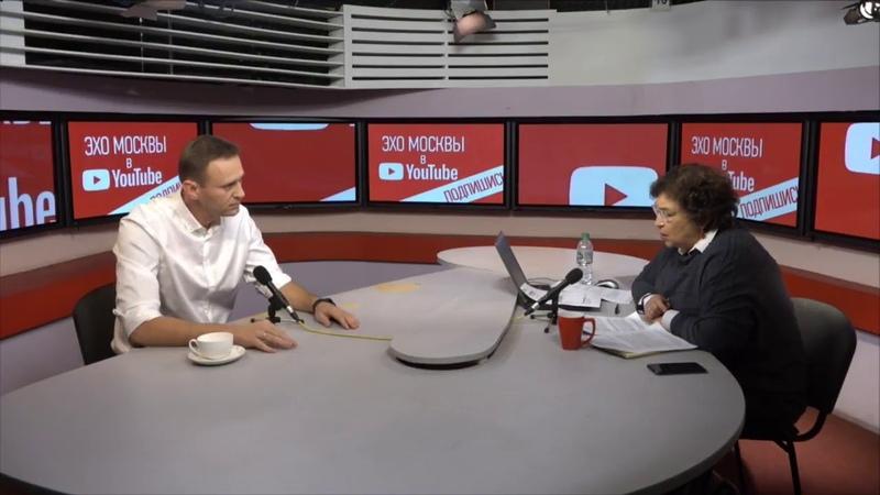 ПОЛНЫЙ АЛЬБАЦ на Эхо Москвы последний выпуск - передача от 22.10.2018 - Алексей Навальный