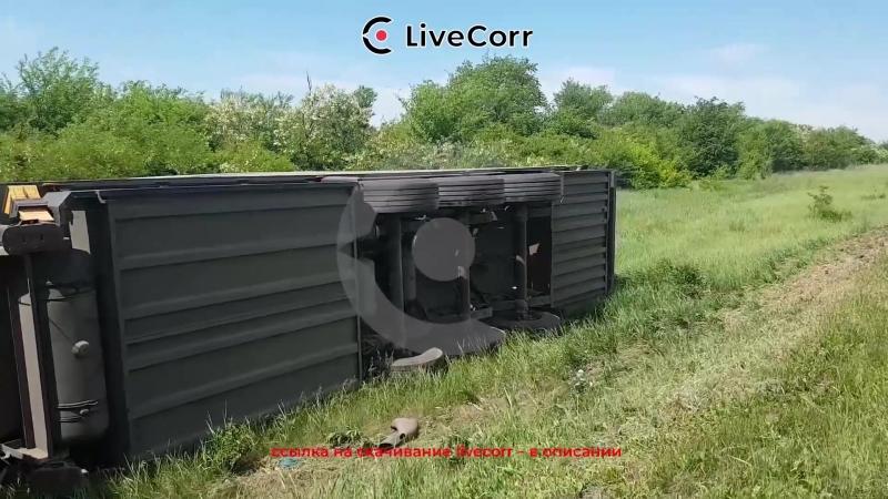 Фура перевернулась после ДТП с легковушкой в Ставропольском крае