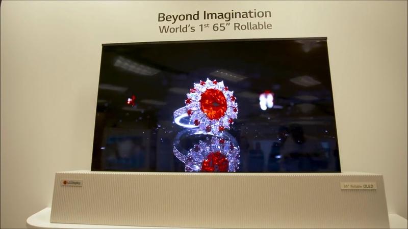 Скручивающийся OLED телевизор Телевизор рулон от LG