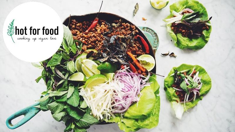 THAI LETTUCE WRAPS (VEGAN SHEET PAN IDEAS EP 2)   hot for food
