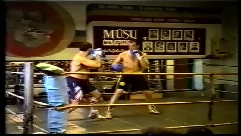 First professional boxing reportage in Lithuania 1993-11-16 (reproduce in 2013-10-16)_Vidas vs Jonas