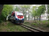 Прибытие поезда с ведущим локомотивом ТУ10-019 на ост. площадку
