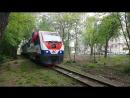 Прибытие поезда с ведущим локомотивом ТУ10-019 на ост. площадку Солнечная