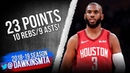 Chris Paul Full Highlights 2019.02.21 Rockets vs Lakers - 23 Pts, 10 Rebs, 9 Asts! | FreeDawkins