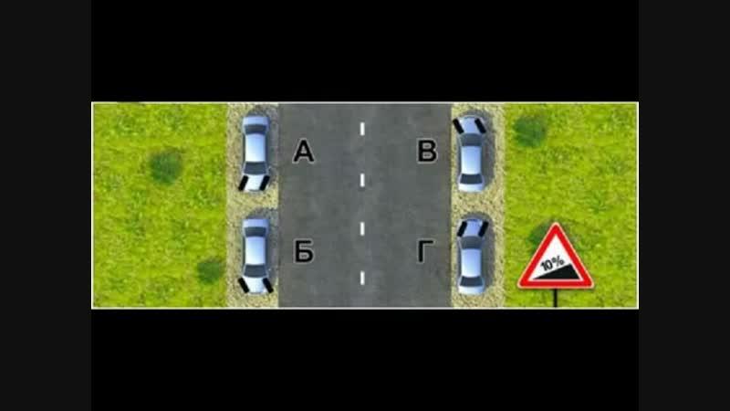 Как поворачивать управляемые колеса при парковке на уклоне
