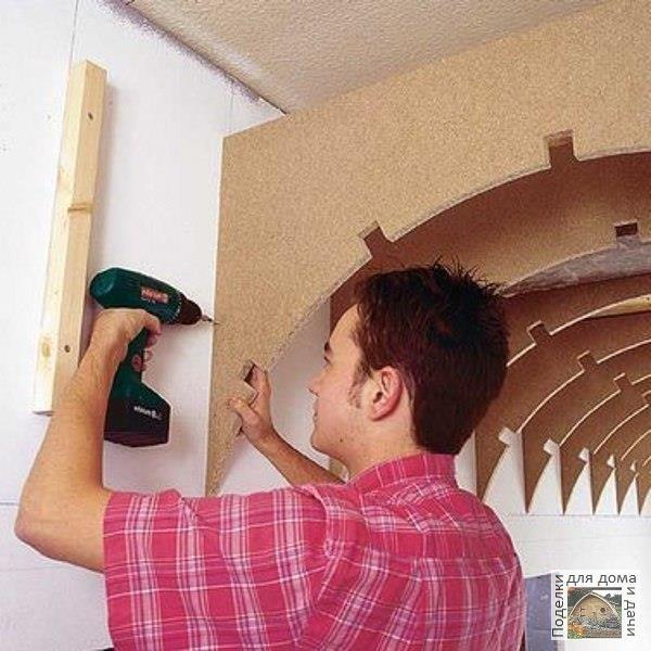 Делаем сводчатый потолок с помощью гипсоволоконных панелей Riflex