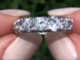 Circa 1920 Vintage Estate Diamond Engagement Ring Set In Solid 18K White Gold Must Be Sold