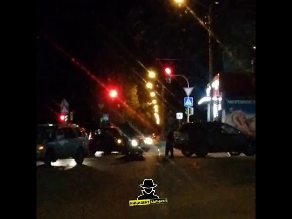 На пересечении улиц Юрина и Островского сбили женщину Инцидент Барнаул