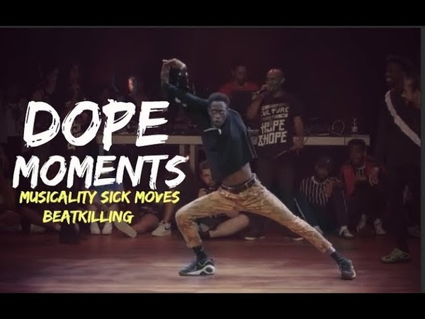 DOPE MOMENTS   Dancer's Killed the battle rounds   Musicality SICK Moves BeatKilling