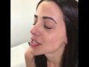 Процесс прокола пирсинга носа септум
