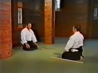 Morihiro Saito. Ken in aikido. Suburi Kumitachi