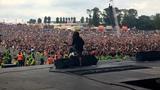 Jackson at Download 2010 with Lamb of God's Mark Morton &amp John Campbell