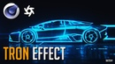 Cinema 4D Tutorial - Tron Effect (Octane)
