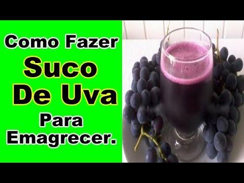 Como fazer suco de uva para emagrecer
