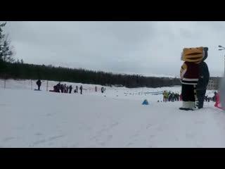 Первенство России по лыжным гонкам среди юниоров на дистанцию 50 км. Старт гонки.