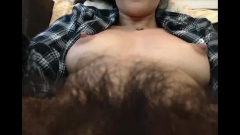 Up Close Hairy Pussy Bush Spread