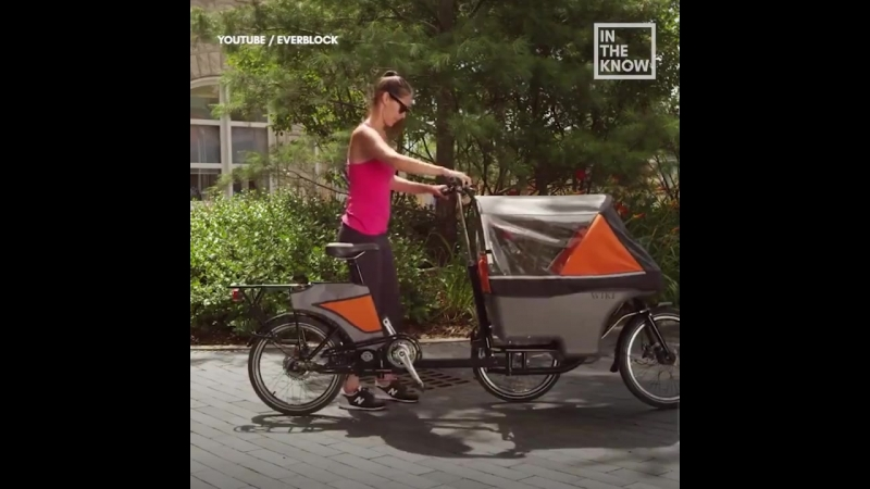 Коляска превращается в велосипед за секунды