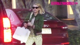 Emma Roberts Is Briefly Spotted Leaving LAgence On Melrose Place In West Hollywood 11.26.18