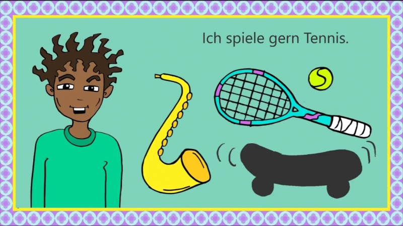 Deutsch lernen- Hobbys und Freizeit - German for children and beginners- hobbies