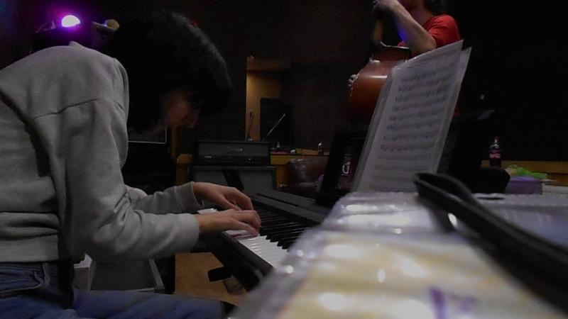 Gorynych Birthday's jam (piano- Maria Subbotina / double bass- Bazhen Gavrilov)