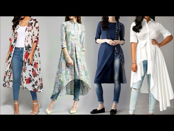 Latest Trendy kurti with jeans for 2018|| College Outfit || Latest Women Fashion