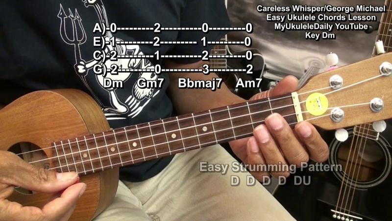 Careless Whisper Ukulele Easy Chords Strumming Lesson EricBlackmonMusicHD YouTube
