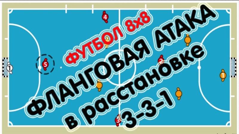 ФЛАНГОВАЯ АТАКА в Расстановке 3-3-1 - ФУТБОЛ 8х8