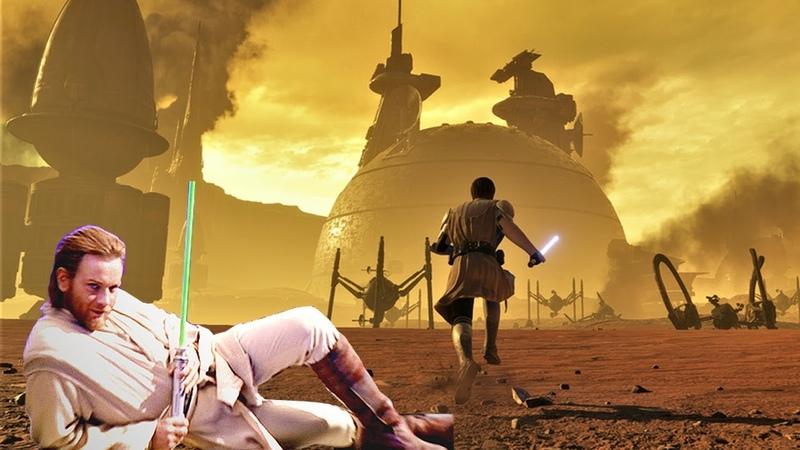 Obi-Wan impregnates the battlefield