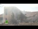 Exklusiv Aufnahmen US geführte Luftangriffe zerstörten Forschungszentrum in Barsah