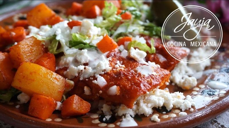 Enchiladas Rojas con Papa y Zanahoria Ideales para Cuaresma