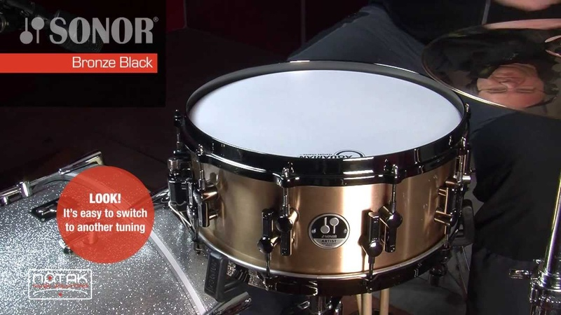 Tuning examples rullante Sonor AS 12 1406 BRB SDBD Bronze Black